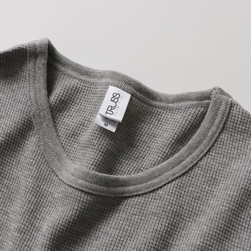 7.1ozワッフルロングスリーブTシャツ