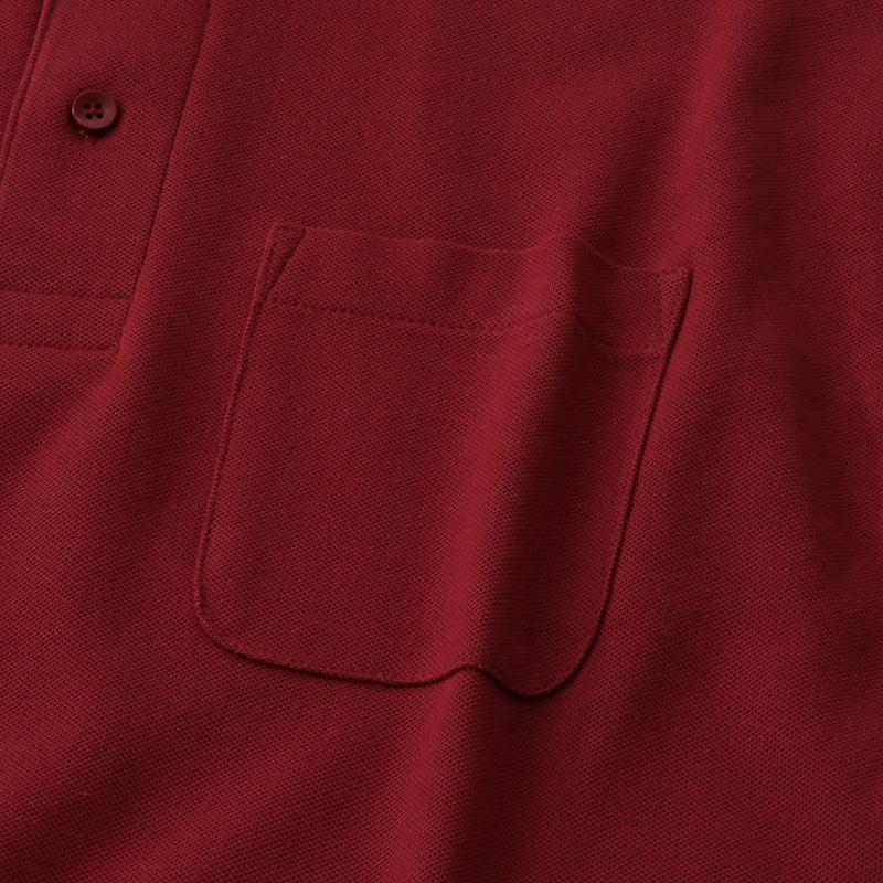 5.8ozT/C長袖ポケットポロシャツ
