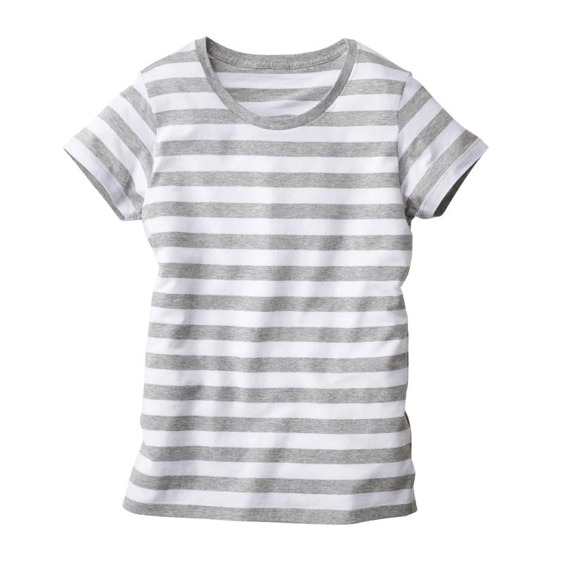 4.3ozレディースボーダーTシャツ