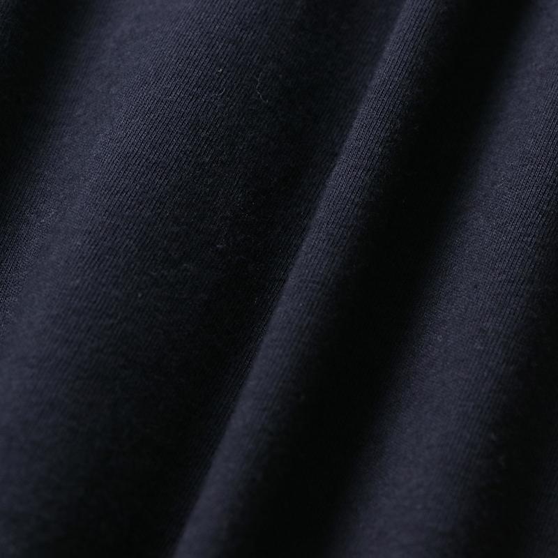 4.3ozスリムフィットUネックロングスリーブTシャツ