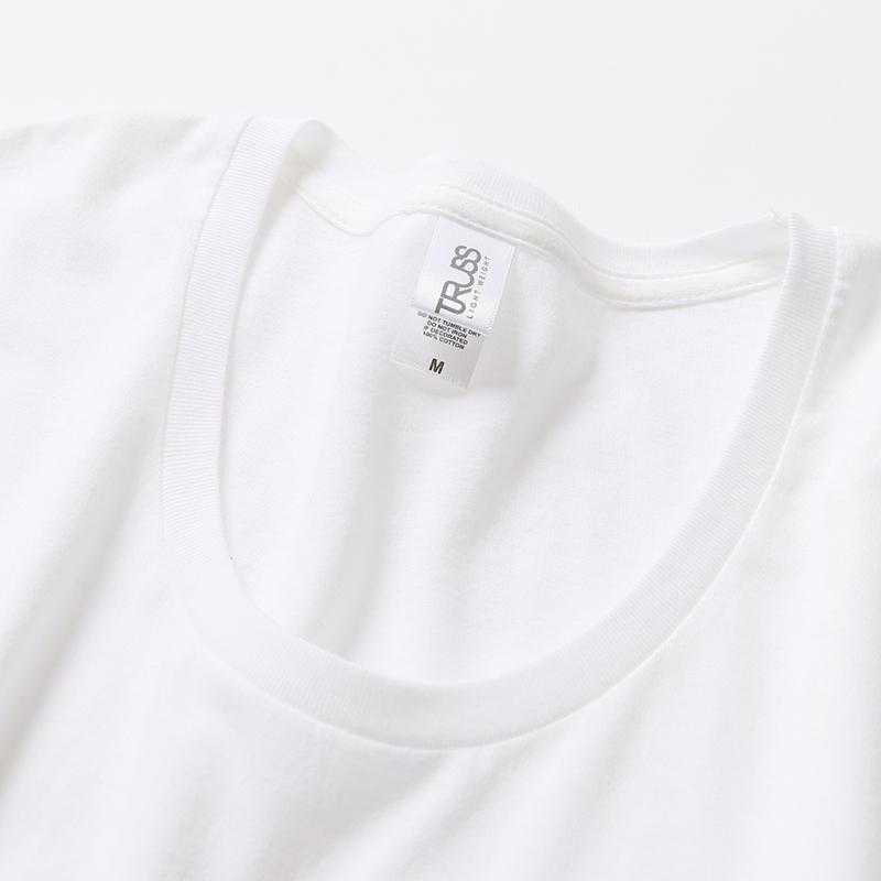 4.3ozスリムフィットUネックTシャツ