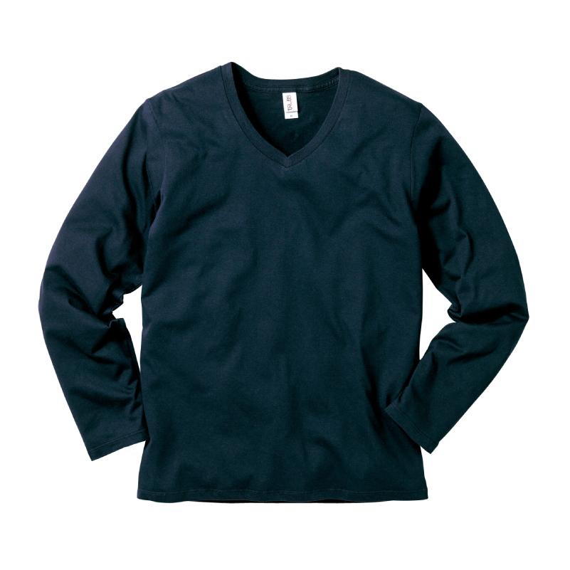 4.3ozスリムフィットVネックロングスリーブTシャツ