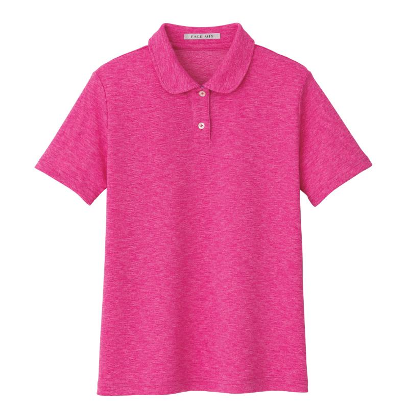 商品画像フラットカラーレディースポロシャツ