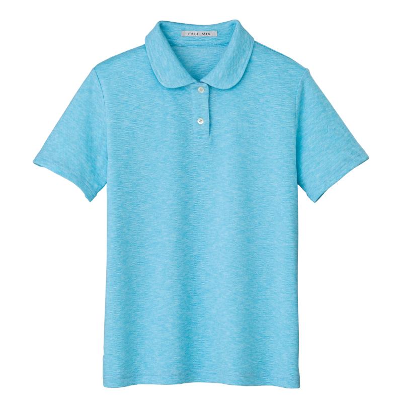 フラットカラーレディースポロシャツ