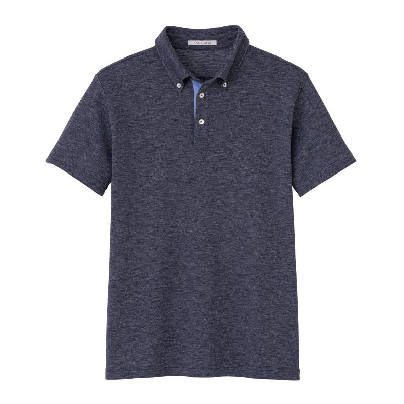 アクセントカラーポロシャツ