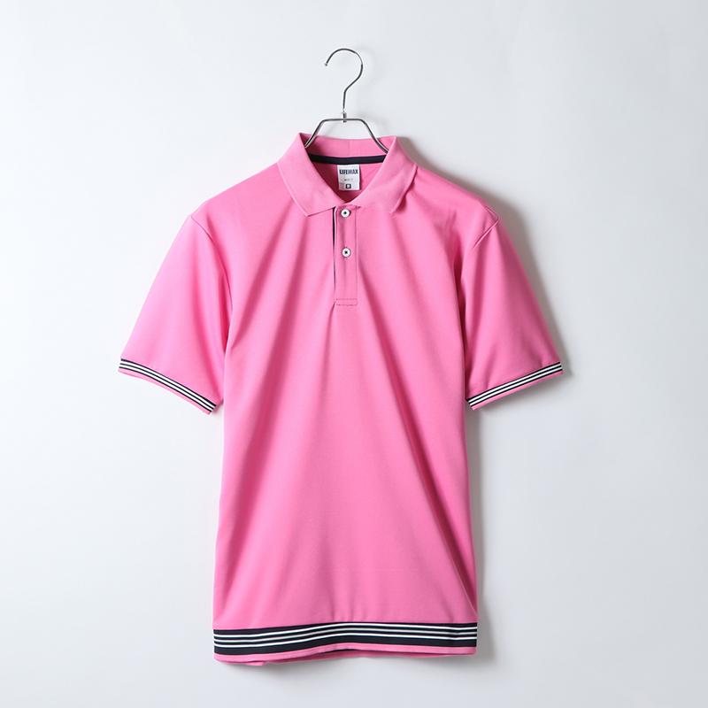 4.3ozラインリブポロシャツ