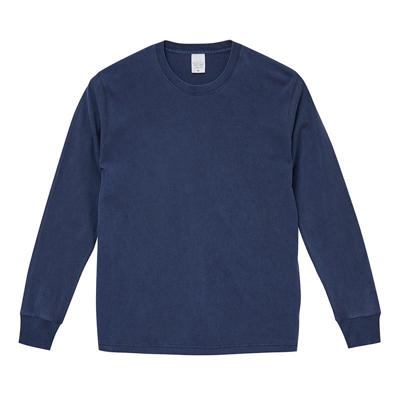5.6ozピグメントダイロングスリーブTシャツ