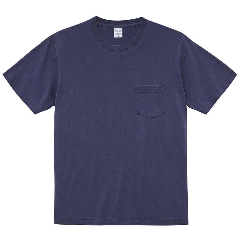 5.6ozピグメントダイポケットTシャツ