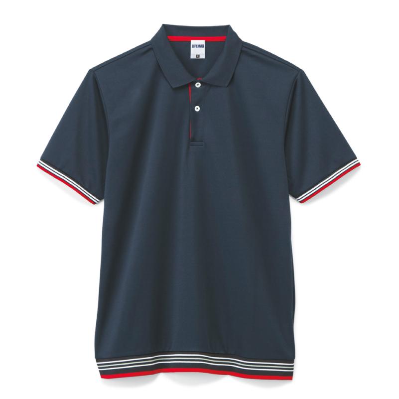 ラインリブポロシャツ