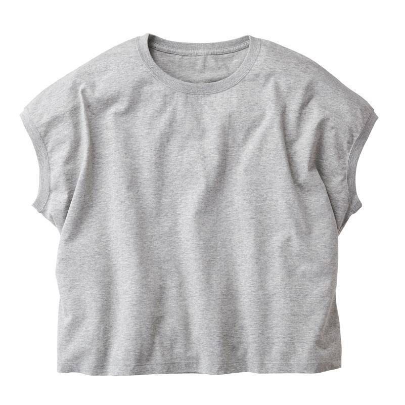 4.3ozスリーブレスワイドTシャツ