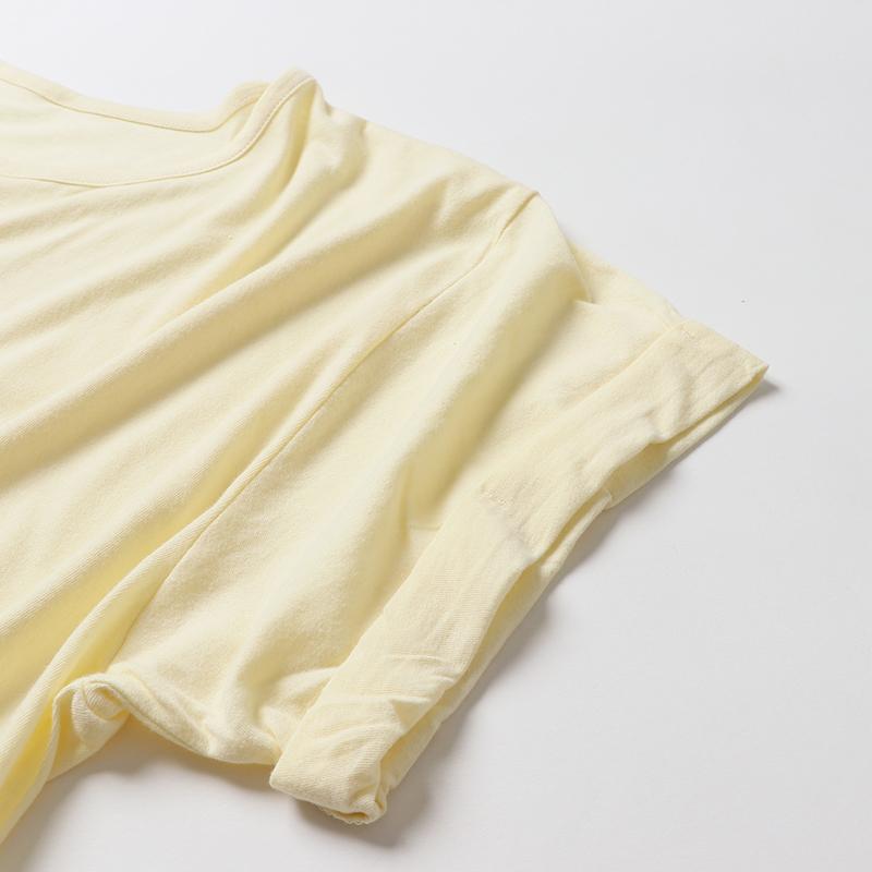 3.8ozレディースロールアップTシャツ