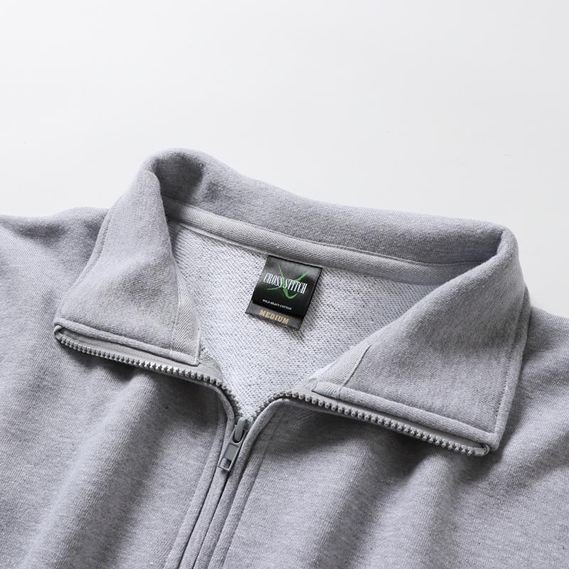 10.0ozハーフジップトラックジャケット