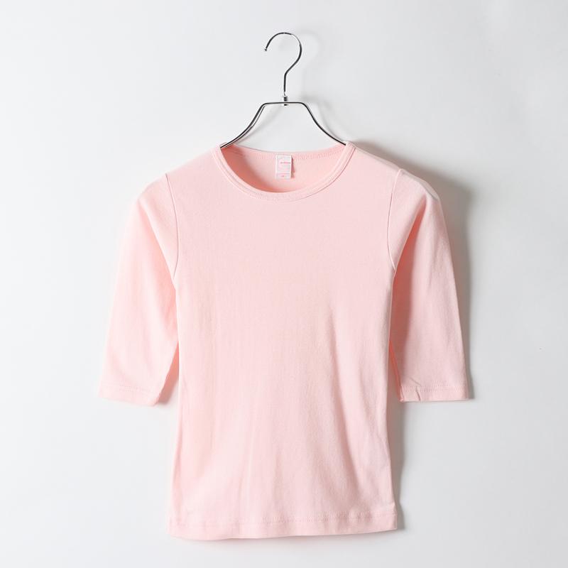 5.8ozレディース7分袖Tシャツ