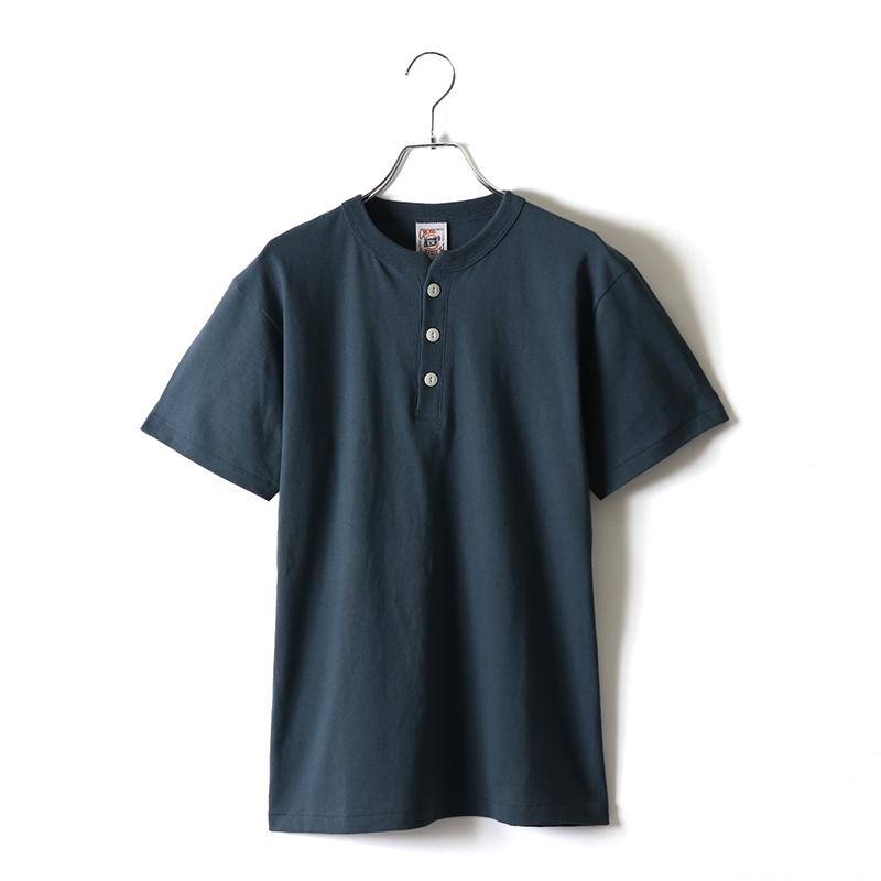 6.2ozマックスウェイトヘンリーネックTシャツ